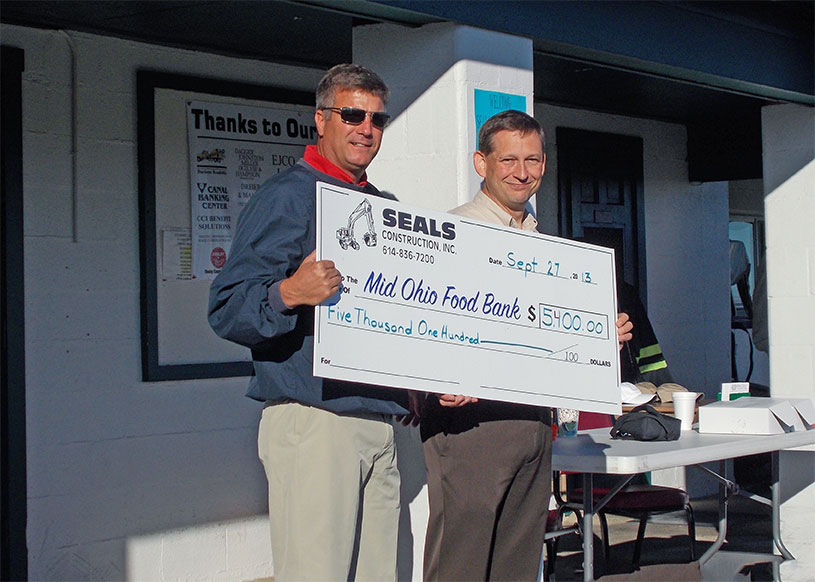 Seals Construction donates to food bank
